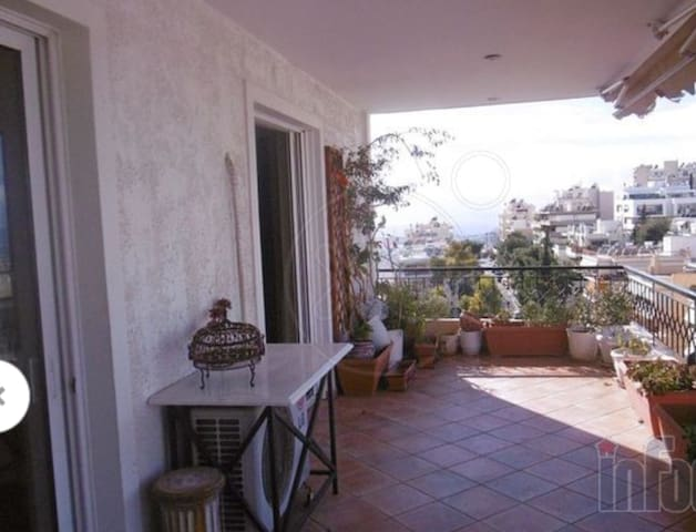 Penthouse 4-6pers+garage,20min by car to Acropolis - Vironas - Apartamento