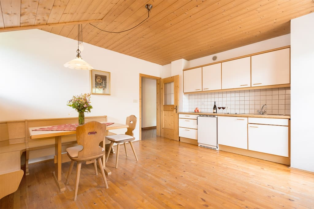 Die geräumige Wohnküche