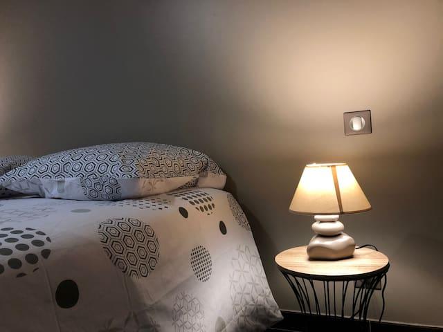 Chambre totalement équipé de couchages et serviettes