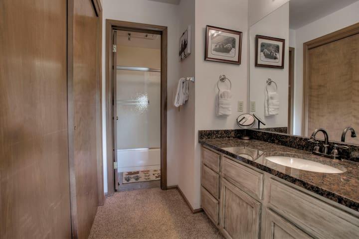 Master bedroom to Jill side of bathroom