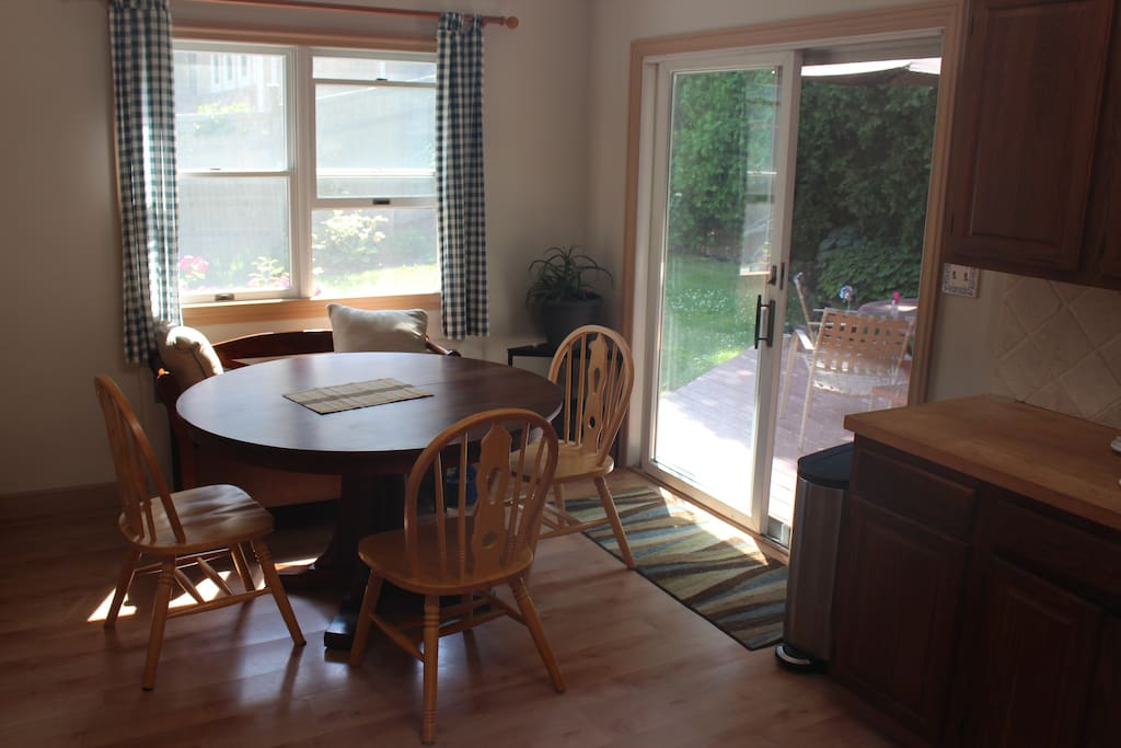 Kitchen dining area