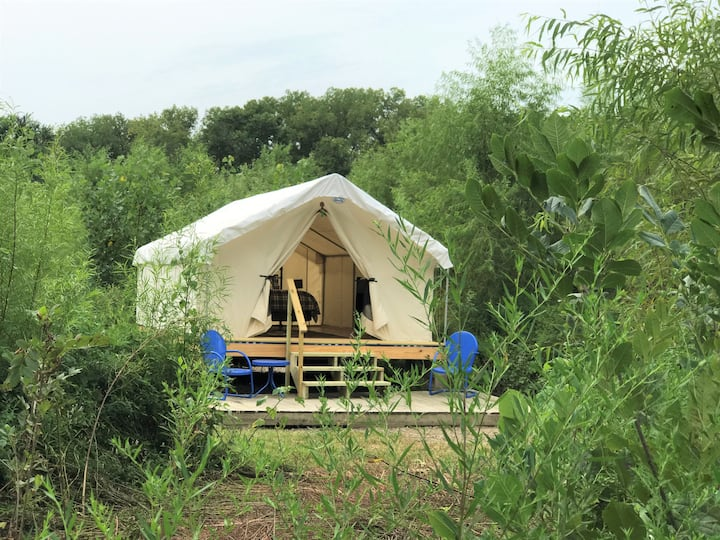 Social Distance in a Secluded Glamping Tent