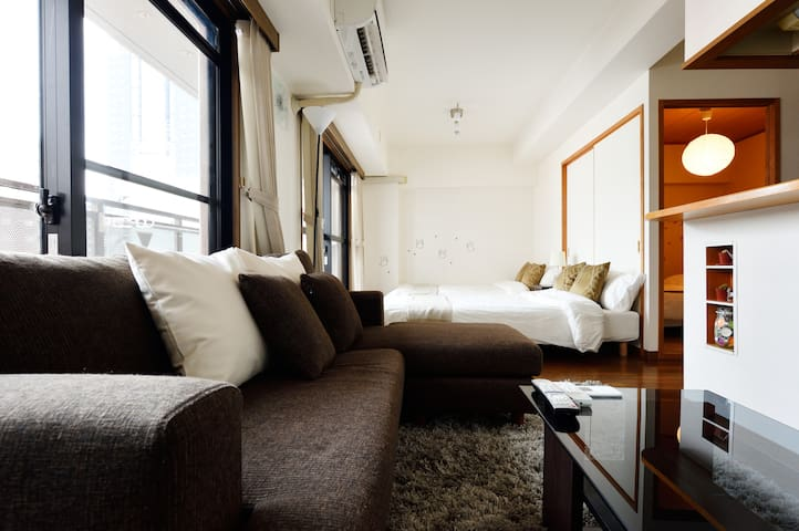 The popular area in Osaka! 58㎡ spacious room、WiFi - Chūō-ku, Ōsaka-shi - Pis