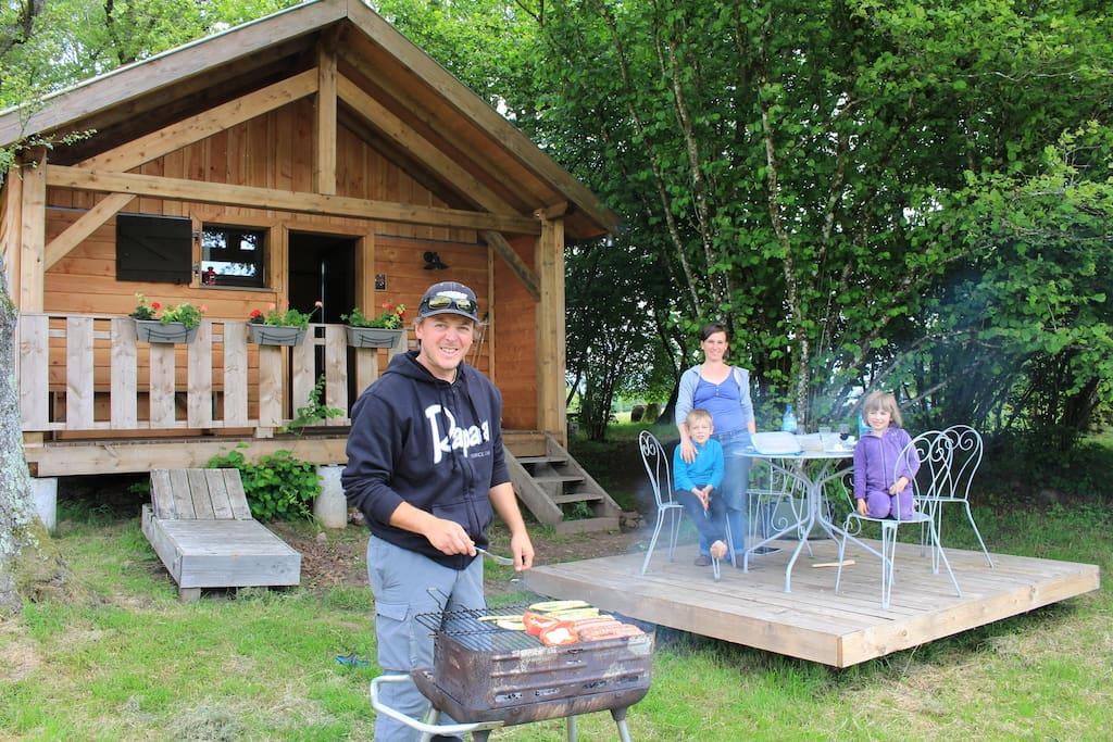 Barbecue en famille