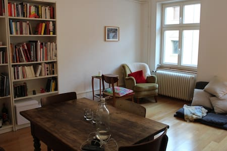 Sunny, spacious apartment right next to the Rhine - 巴塞爾 - 公寓
