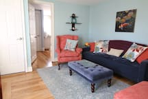 Living Room w/ twin sofa sleeper