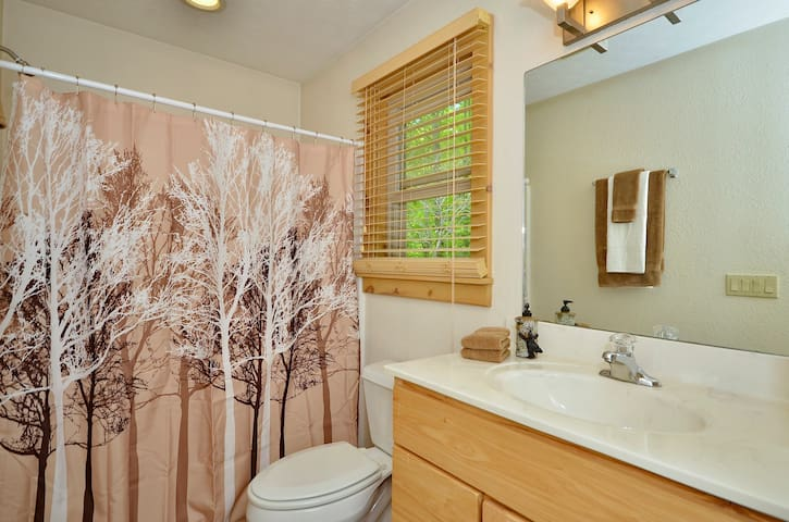 Full bath located on second level.  Walk in shower.