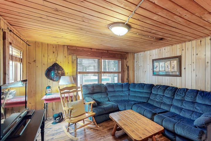 Lakefront, dog-friendly cabin w/ high-speed WiFi, private dock & stunning views!