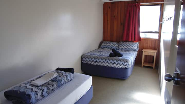 Double + Single (Shared Bathroom) - YHA Te Anau