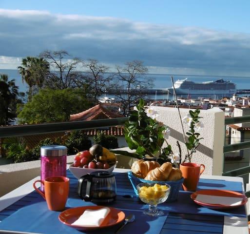Bel appartement avec large vue sur mer
