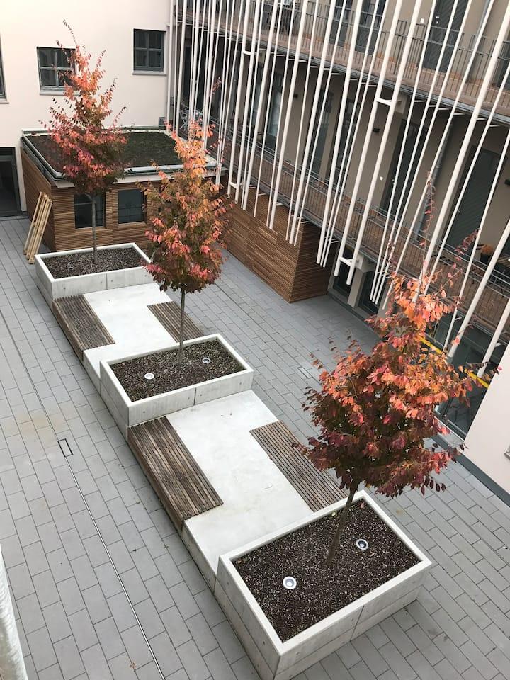Zentral+modern: ruhige 2-Zi. m. Sonnen-& Parkplatz