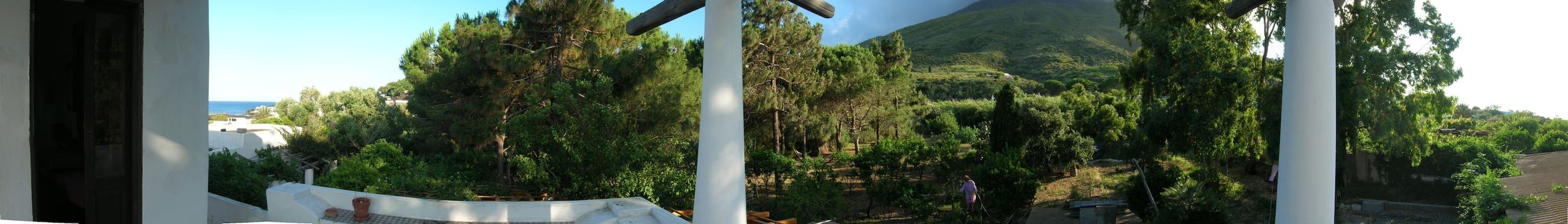 Panorama dal terrazzo (vista montagna 1)
