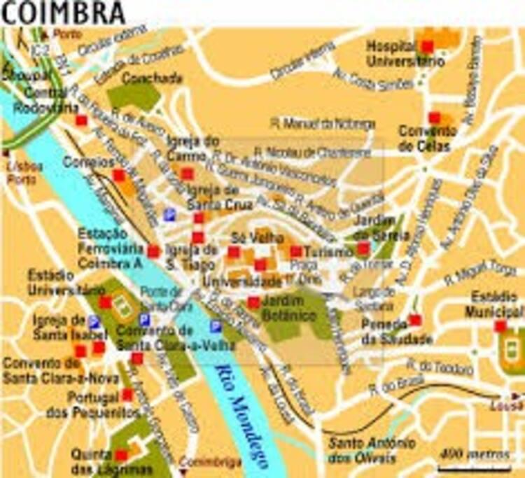 Mapa de Coimbra.