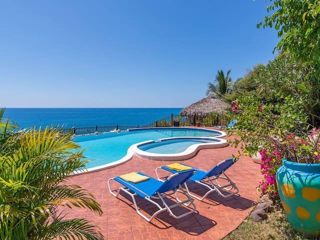 Offers Spectacular Vistas of the Caribbean Sea