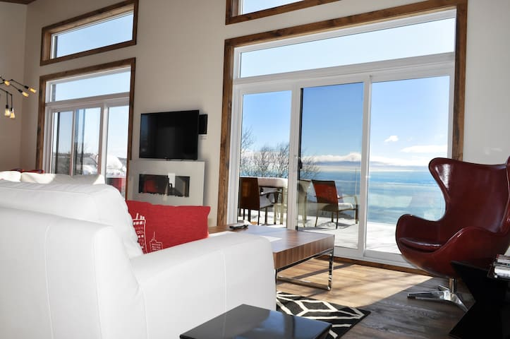 L'Horizon.Amazing new house with spectacular view! - Les Éboulements - Xalet