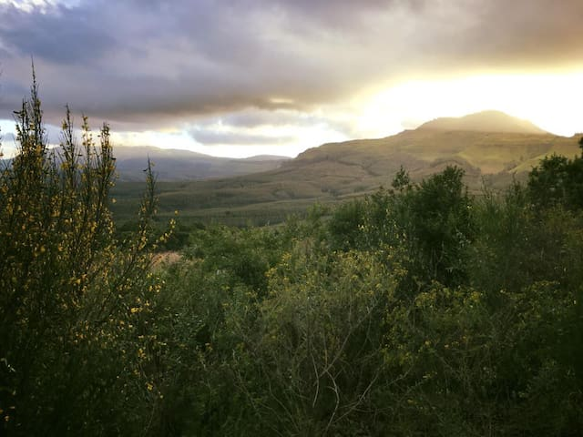 Overlook the Bulwer Mountain while nestled in the Magwaqa Valley which is located 12 km outside Bulwer in the Southern Drakensberg.