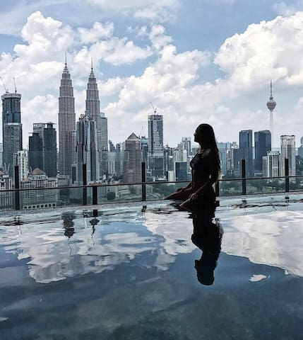 """FREE WIFI""Kuala Lumpur Bukit Bintang Luxury Suite"