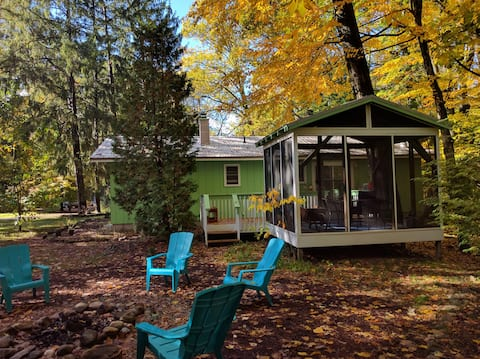 Fall color magic at your cottage in the woods