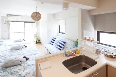 NEW! Shinjuku 2 min for max 7people with Wifi Free - Shibuya-ku - Wohnung