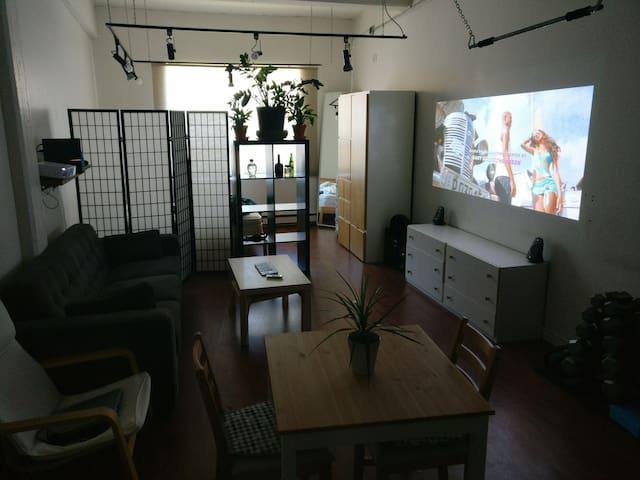 Studio loft style apartment