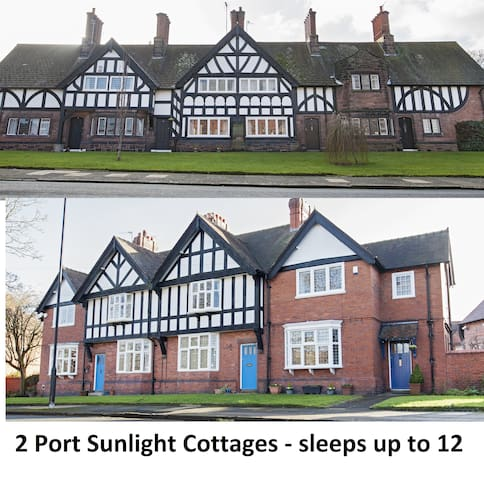 Two unique and beautiful Port Sunlight cottages