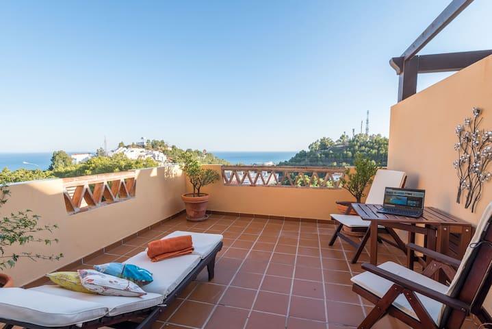 Casa Dos Cipreses Málaga, romantic sea view relax