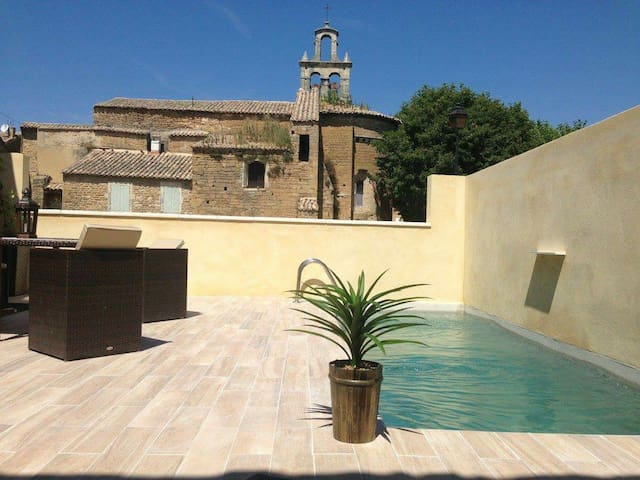 Maison 4 chambres 8 p avec piscine - Bouchet - House