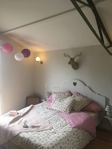 Chambre vue sur Meuse (lit double, 160 cm)