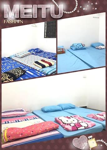 9 Single bed @3BR - Ulu Tiram - Dormitório