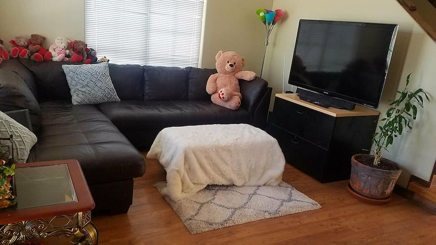 Couch in the entryway