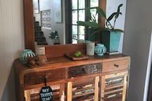 enjoy a tropical vibe with unique decor