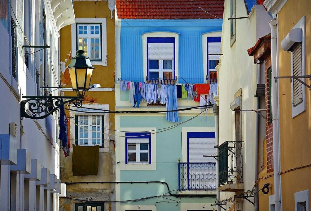 Streets Of Seixal Full Of Color with narrow Beautiful Streets