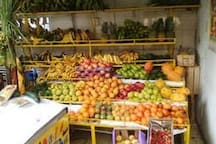 Fresh fruit and vegetables 50 m. away, walking distance.