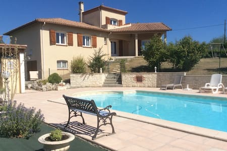 Maison agreable avec piscine - Montaigu-de-Quercy - 独立屋