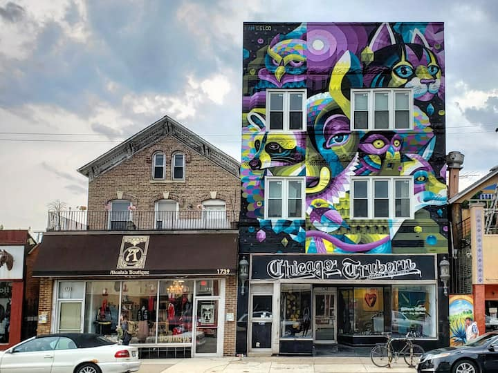 CT's Art BNB in West Town's Gallery Row