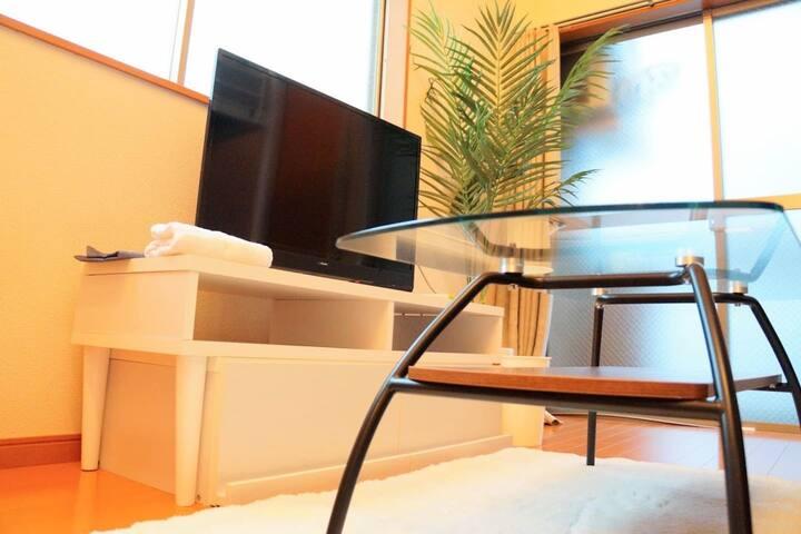 【お部屋貸切】博多・天神にアクセス抜群!Wi-fi完備/長期滞在も可!春吉 #HB6