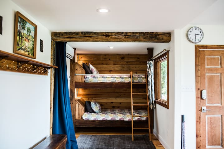 Sturdy, handmade, heartwood pine bunk beds