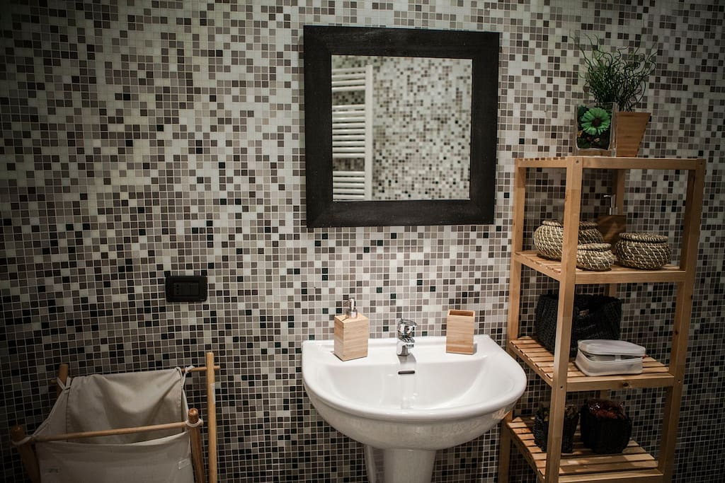 The spacious and modern bathroom