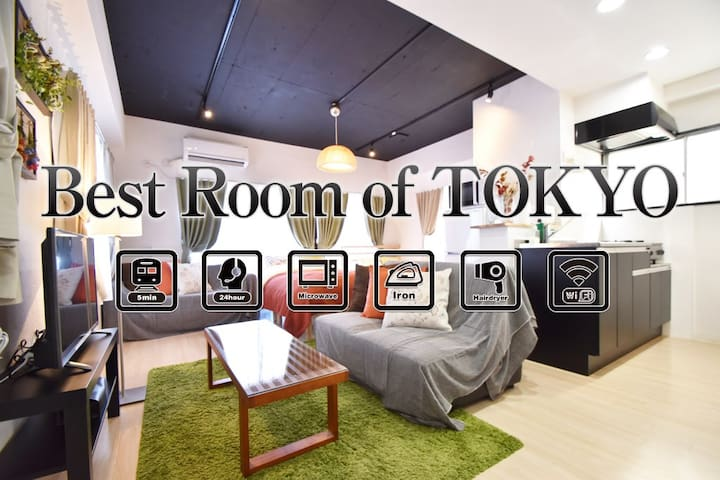 5min from IKEBUKURO☆For 8ppl. WIFI #AS122 - Toshima-ku - Íbúð