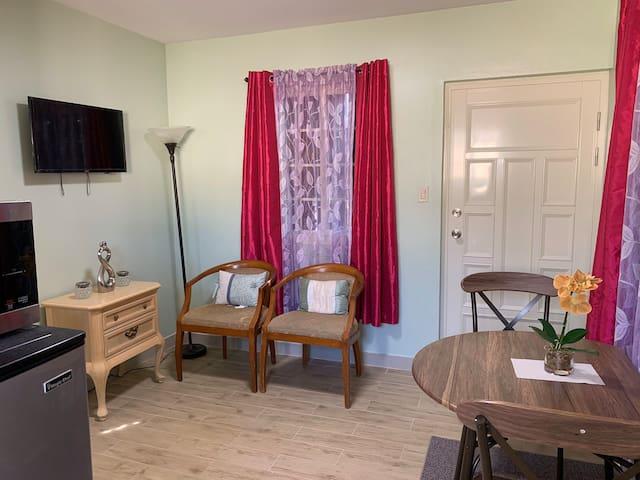 Vibrant mini house.