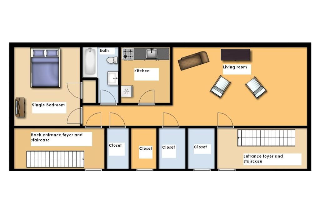 Truly Huge - This spacious 1BD/1BA layout has tons of sunlight yet private