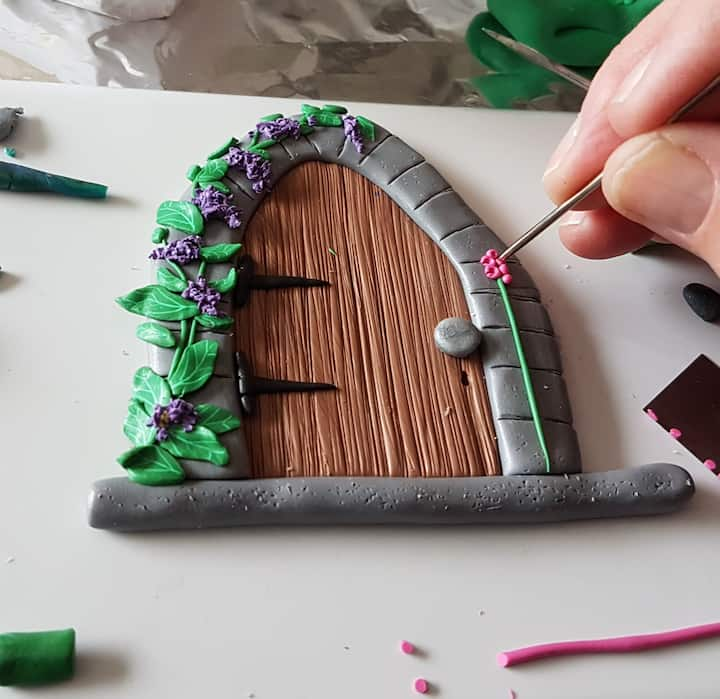 Adding detail to the Fairy Door