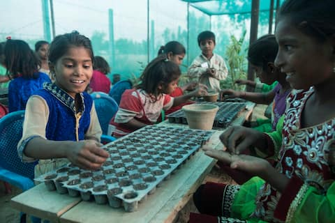 Stay in an agri-based school near Lucknow