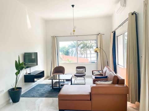 Lovely apartment recently renovated in La Gombe.