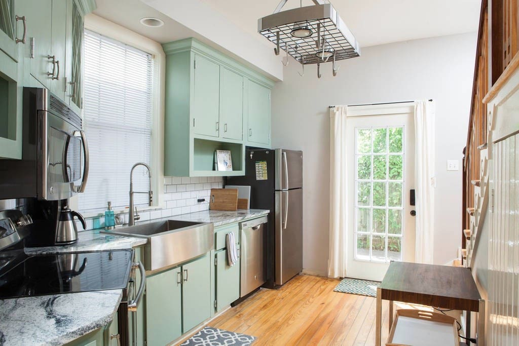 Shared kitchen fully equipped with everything you need to make a meal or snack
