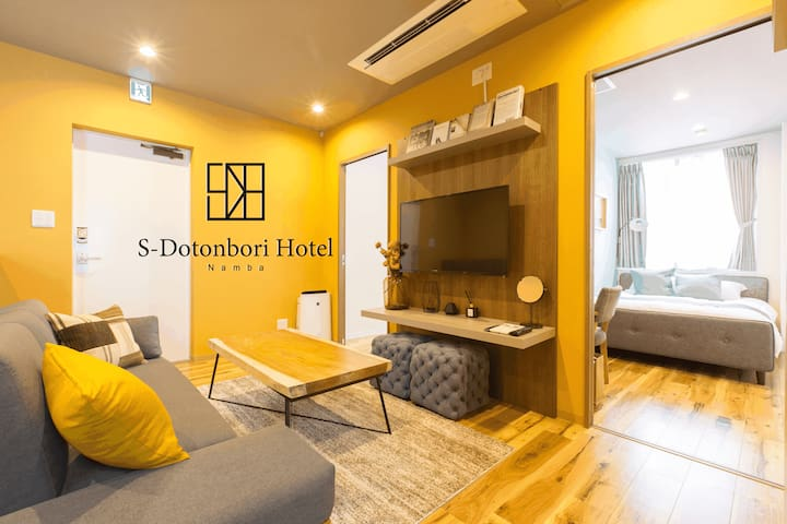 Best location of Dotonbori/Namba, 2BR