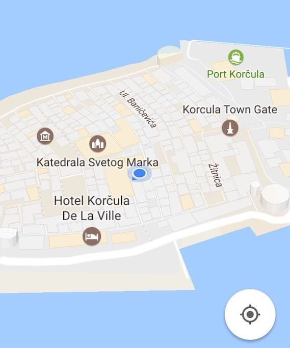 Ismaelli Palace is right below the Town Museum and St. Marco's Cathedral