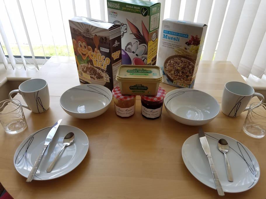 Breakfast options