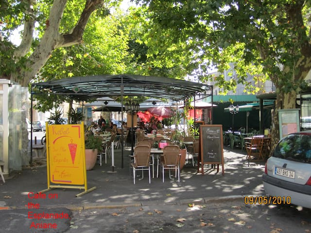 Cafe on the Esplanade, Aniane