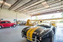 AC Shelby cobra and 72 VW bug.